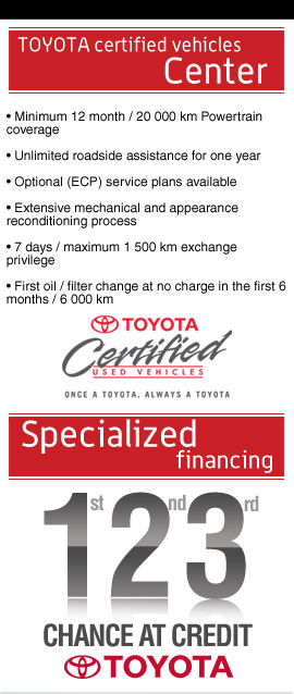 Used Toyota for sale in Matane at Toyota Matane in Lower St-Lawrence - Toyota Matane